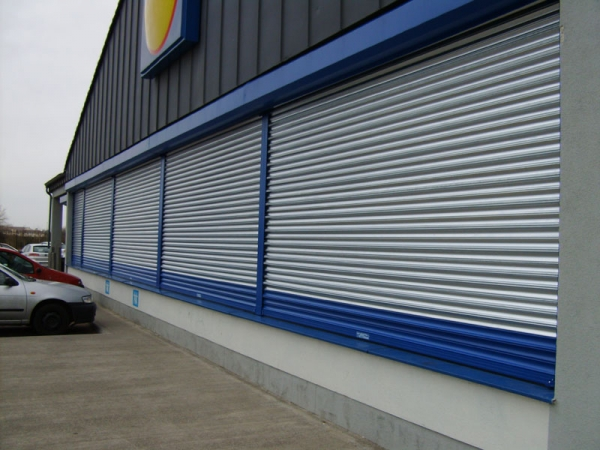 Shop Front Shutters Perforated Punched Or Tube And