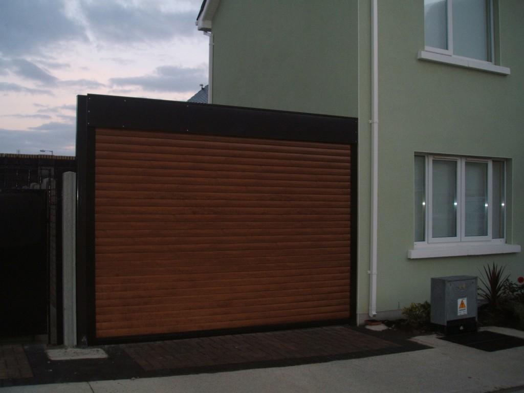 Dark oak Garage door